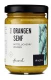 Orangen Senf - mit Tellycherry Pfeffer- Glas 145ml